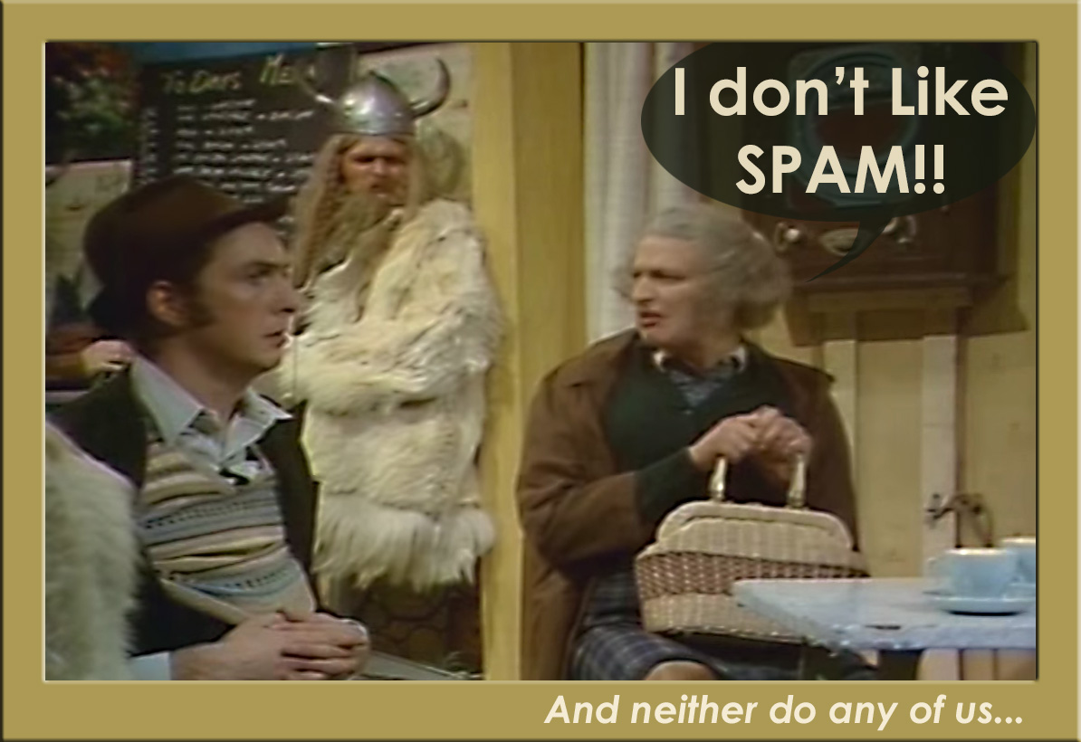 "Monty Python ""I don't like SPAM!"" scene"