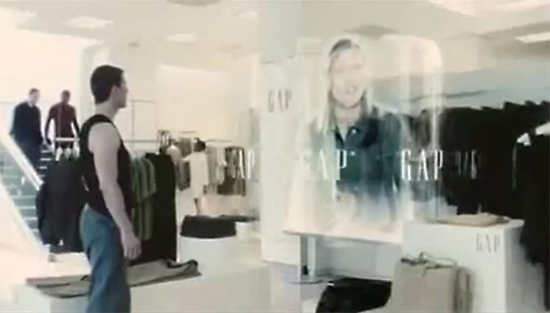 Minority Report scene from the Gap
