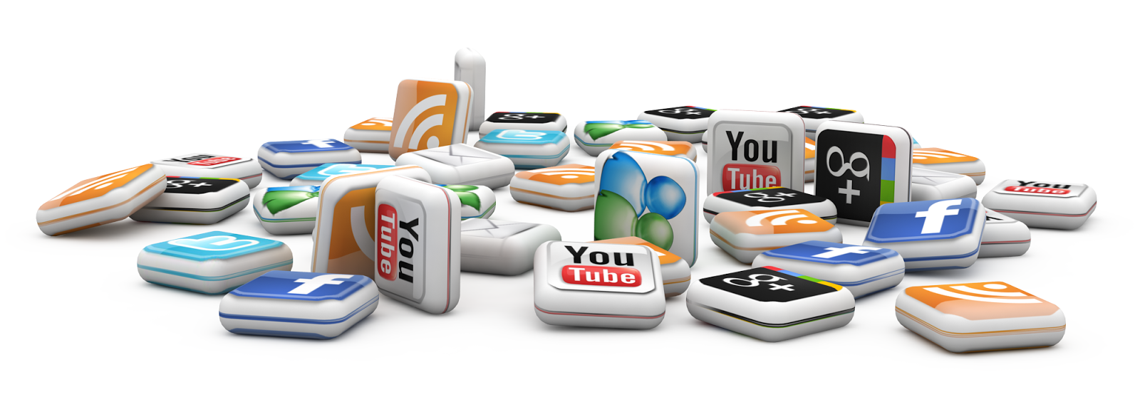 social media icons as game pieces