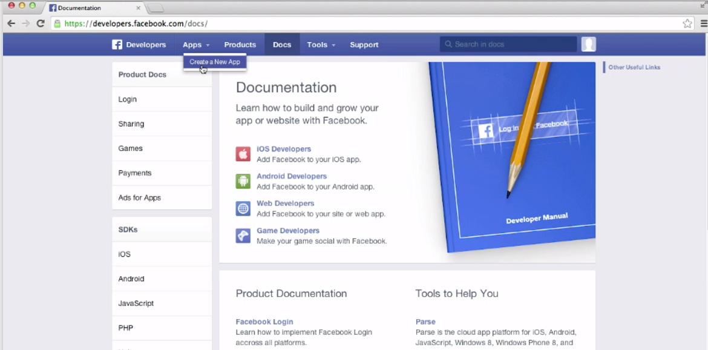 FB-create-new-app