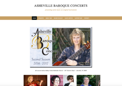 Asheville Baroque Concert Series desktop view