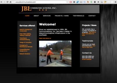 JBL Communications Desktop view