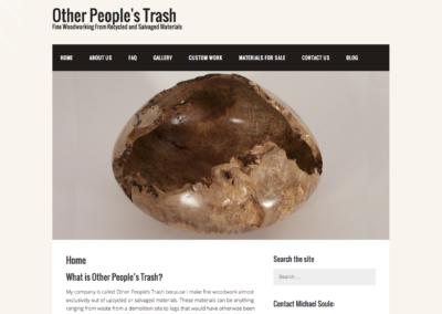 Other People's Trash desktop view