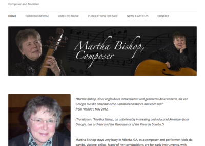 Martha Bishop, Composer