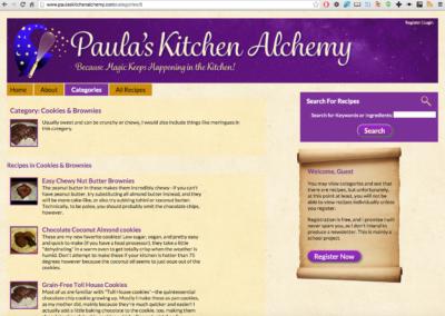 Paula's Kitchen Alchemy category view