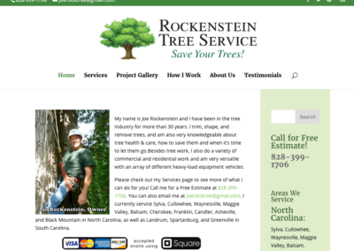 Joe Rockenstein Tree Service tablet view