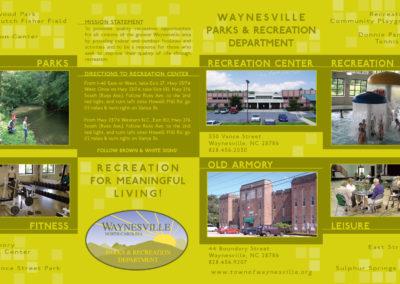 Waynesville Rec Center brochure front