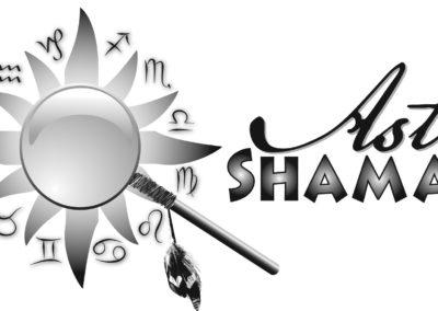 Astro Shaman logo greyscale