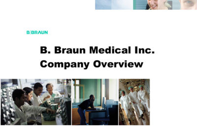 B. Braun Corporate Presentation