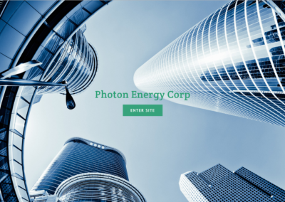 Photon Energy Splash page