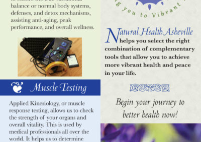 Natural Health Asheville brochure front