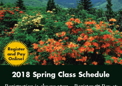 Mayland College Schedule cover Spring 2018